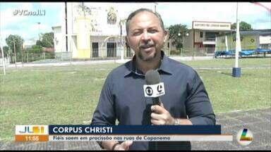 Comunidade católica faz tapetes de serragem há 43 anos para Corpus Christi em Capanema - Jornal Liberal