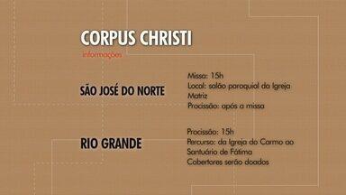 Feriado de Corpus Christi tem programação em Rio Grande e São José do Norte - A data importante para os católicos é celebrada com missas e procissões nas duas cidades.