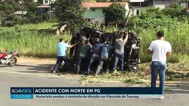Motorista perde a direção e morre em acidente em Ponta Grossa - Acidente foi na manhã desta quinta-feira (20), no bairro da Ronda.