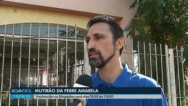 Ponta Grossa tem mutirão de vacina contra febre amarela na sexta-feira (20) - Vacinação será voltada a moradores da região do Alagados, onde um macaco morreu por febre amarela.