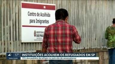 Instituições acolhem refugiados em SP - São Paulo é o segundo estado do Brasil que mais recebe refugiados.