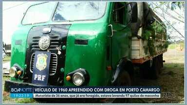 Veículo de1960 é apreendido com cerca de 100 kg de droga - Apreensão foi na PR 457