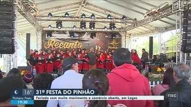 Festa do Pinhão registra movimento intenso durante o feriado; comércio celebra - Festa do Pinhão registra movimento intenso durante o feriado; comércio celebra