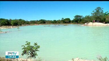 Lagoa Azul é descoberta após período chuvoso e vira atração em Barras - Lagoa Azul é descoberta após período chuvoso e vira atração em Barras