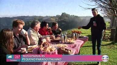 Ana Maria anuncia a chegada do inverno - Conheça o pequeno paraíso italiano em Nova Pádua,RS