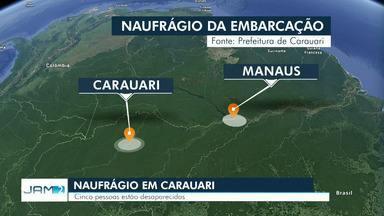 Pescador resgata um sobrevivente de naufrágio de barco com 97 pessoas no interior do AM - Cinco seguem desaparecidos após naufrágio na noite de quarta-feira (19). Barco saiu de Manaus a caminho da cidade de Carauari.