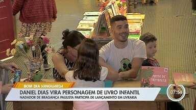 Atleta Daniel Dias vira personagem de livro infantil - Nadador de Bragança Paulista participa de lançamento em livraria.