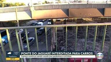 Bom Dia SP - Edição de segunda-feira, 24/06/2019 - Ponte do Jaguaré começa a semana interditada para carros após incêndio. Policial Militar foi morto na Zona Sul de SP. Balão chama atenção no céu do ABC Paulista.