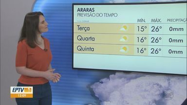 Veja como fica o tempo nesta segunda-feira na região - O sol brilha forte em São Carlos com máximas de 25º graus.