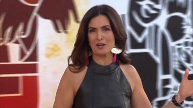 Programa de 24/06/2019 - Fátima Bernardes recebe os atores Débora Nascimento e Miguel Rômulo para um papo sobre assédio e os riscos de desidratação no inverno. A música fica por conta do Double You