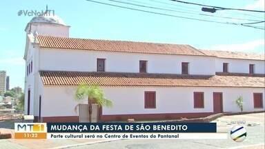 Parte cultural da festa de São Benedito será no Centro de Eventos do Pantanal - Parte cultural da festa de São Benedito será no Centro de Eventos do Pantanal.