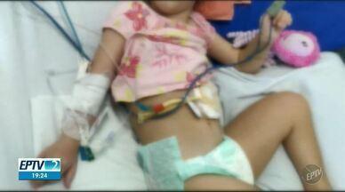 Paciente de 6 anos, em Mogi Mirim, aguarda transferência para realizar cirurgia - Nicolly, de 6 anos, precisa fazer cirurgia de válvula anti-refluxo e Santa Casa admite risco de morte.