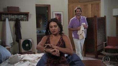 Janaína diz que por enquanto não quer sociedade com Raimundo - Raimundo respeita a decisão da amada