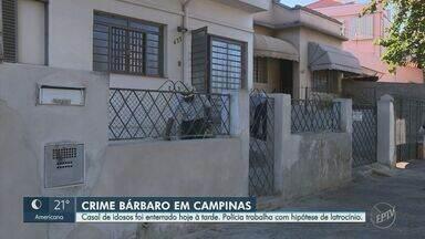 Idosos mortos em assalto são enterrados nesta segunda-feira, em Campinas - Mortos durante um assalto no Jardim Leonor, casal foi enterrado na tarde desta segunda-feira (24). Polícia está à procura dos criminosos.
