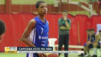 Didi Louzada, jogador do ES, vai jogar no basquete profissional dos Estados Unidos - Ele começou a jogar ainda criança em um projeto social de Cachoeiro de Itapemirim e agora vai mostrar seu talento para o mundo.