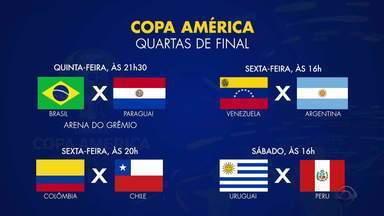 Confira as próximas partidas nas quartas de final da Copa América - Assista ao vídeo.