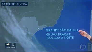 Quarta-feira terá máxima perto dos 30 graus na Grande São Paulo - Frente fria se aproxima, provoca ventania e pode trazer chuva, fraca e isolada, somente de noite.