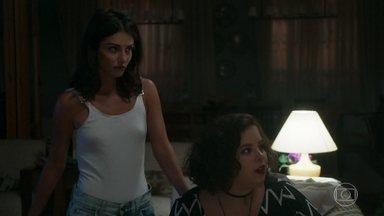 Cibele acolhe Missade no escritório de Miguel - Camila se mostra incomodada com a presença deles na casa