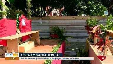 Festa do Imigrante mobiliza população de Santa Teresa, no ES - Evento celebra imigração italiana na cidade.