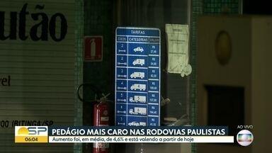 Tarifas mais caras começam a valer hoje nos pedágios do estado - Aumento médio foi de 4,6% e, na Rodovia dos Imigrantes, novo valor é de R$27,40
