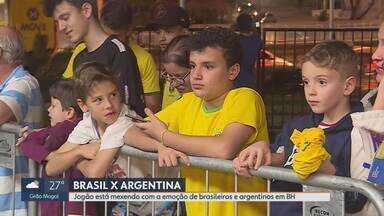 Belo Horizonte está em clima de expectativa para Brasil e Argentina, pela Copa América - Jogo entre os arquirrivais será nesta terça-feira.