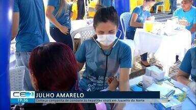 Começa a campanha de combate às hepatites virais em Juazeiro do Norte - Confira mais notícias em g1.globo.com/ce