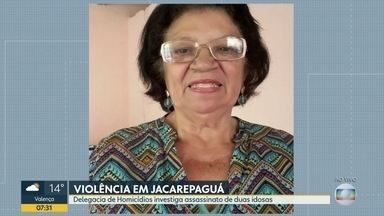 Polícia investiga assassinato de duas idosas na região de Jacarepaguá - Helena, 78 anos, foi assassinada por um conhecido que havia realizado serviços de pintura em sua casa. Severina foi morta durante um assalto em sua casa.