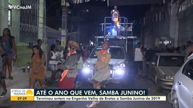 Samba junino anima os moradores do Engenho Velho de Brotas - Além de grupos, cantores como Ninha e Reinaldo, participaram do evento, na segunda-feira (1).