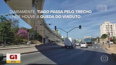 Cinco anos após queda de viaduto em BH, prefeitura diz que obra não era necessária - Hanna Cristina dos Santos, de 24 anos, era motorista da linha S70. 'Bate sempre uma tristeza quando eu passo aqui', disse o irmão dela, que ainda faz o mesmo trajeto diariamente.