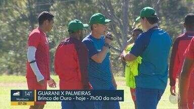 Guarani faz jogo amistoso com o Palmeiras nesta quarta-feira - Dentro de campo a expectativa do Bugre é pelo amistoso contra o Palmeiras, às 19h, no Brinco de Ouro, em Campinas (SP).