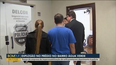 Donos da empresa de impermeabilização do caso do Água Verde prestam depoimento - O supervisor da empresa também foi ouvido.