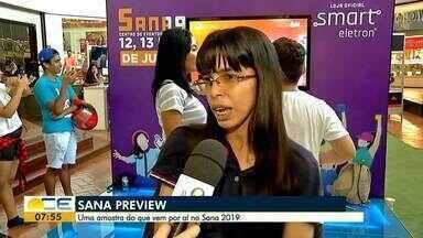 Espaço Sana atrai fãs da cultura pop - É uma prévia do evento que vai ser realizado de 12 a 14 de julho.