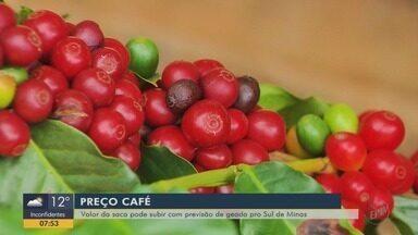 Previsão de Geada para as áreas produtoras de café - Previsão de Geada para as áreas produtoras de café
