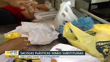 Especialista fala sobre investimento em sacolas biodegradáveis - Sacolas serão substituídas.