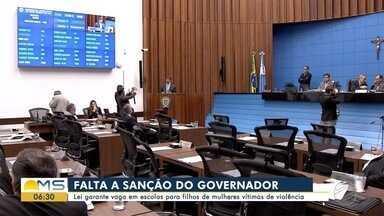 Aprovado projeto sobre vaga em escolas para filhos de mulheres vítimas de violência em MS - O projeto foi aprovado em segunda discussão, por unanimidade, e agora precisa ser sancionado pelo governador Reinaldo Azambuja pra virar lei.