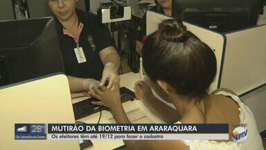 Mutirão para cadastramento biométrico é realizado em Araraquara - Eleitores têm até 19 de dezembro para fazer o cadastro.