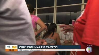 Campos teve 432 pessoas infectadas com chikungunya em julho - Assista a seguir.
