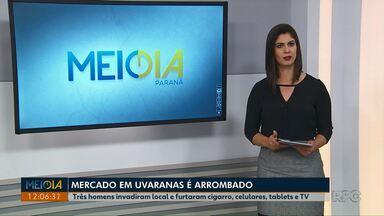 Homens invadem mercado no bairro Uvaranas em Ponta Grossa - Os três suspeitos invadiram o local na madrugada desta quarta-feira (3).