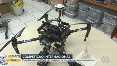 Pesquisadores da UFMG vão participar de corrida com drones autônomos - Equipe é a única da América Latina na competição internacional.