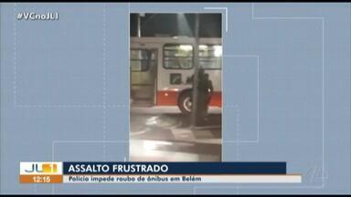Polícia impede roubo de ônibus em Belém - Polícia impede roubo de ônibus em Belém