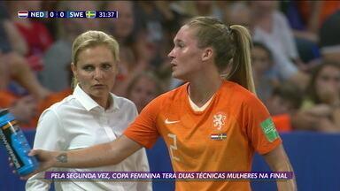 Pela segunda vez, final da Copa do Mundo de Futebol Feminino terá duas técnicas mulheres - Pela segunda vez, final da Copa do Mundo de Futebol Feminino terá duas técnicas mulheres