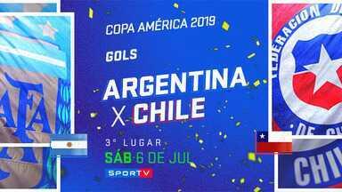 ARG 2 x 1 CHI - 3º lugar - Gols - Copa América