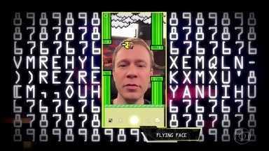 Tiago e Thaiga jogam Flying Face - Novo filtro do Instagram é também um game