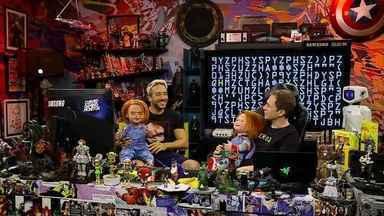 Programa de 06/07/2019 - Tiago Leifert recebeu a visita de 'Chucky: Brinquedo Assassino' no Zero1 e comentou sobre o remake do filme de terror no programa deste sábado, 6/7, que também teve a streamer Bianca 'Thaiga' Lula