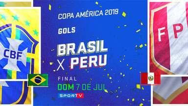 BRA 3 x 1 PER - Final - Gols - Copa América