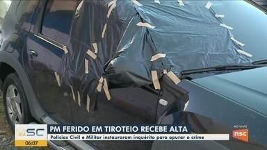 PM de folga é baleado quando dirigia carro de luxo em Balneário Camboriú - PM de folga é baleado quando dirigia carro de luxo em Balneário Camboriú