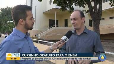 Lá Vem o Enem; curso intensivo gratuito para o Enem abre 300 vagas, na Paraíba - Programa é destinado para estudantes da rede estadual de ensino.