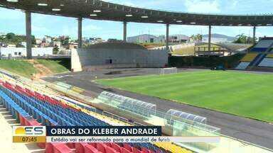 Estádio Kleber Andrade vai ser reformado para o mundial de Futebol sub-17 - Reforma deve ficar pronta no início de 2020.