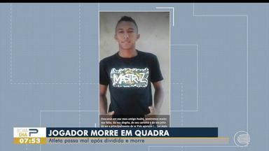 Jovem morre após dividida durante partida de futsal em Arraial do Piauí - Jovem morre após dividida durante partida de futsal em Arraial do Piauí