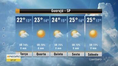 Confira a previsão do tempo para esta terça-feira (9) - Tempo continua frio, mas sol aparece nas cidades da região.